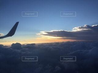 空,朝日,雲,飛行機,朝焼け,正月,お正月,日の出,新年,初日の出