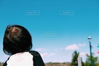 青い空を感じての写真・画像素材[3945364]