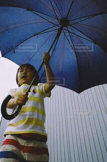大きな傘を持っての写真・画像素材[4561388]