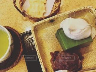 抹茶とあんこの和スイーツの写真・画像素材[3952561]