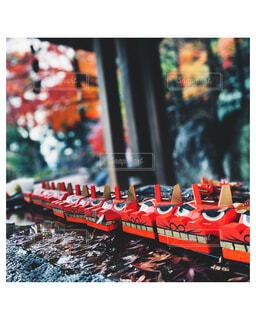 神社の手水舎の風景の写真・画像素材[3977476]