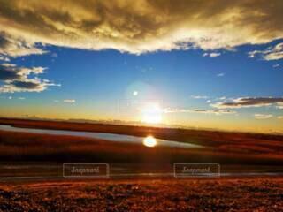 自然,風景,空,屋外,太陽,雲,夕暮れ