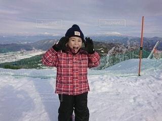 風景,冬,雪,屋外,山,子供,人,スキー,運動,ウィンタースポーツ
