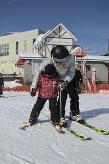 風景,冬,雪,屋外,人,スキー,運動,スキー場,ウィンタースポーツ,スポーツ用品