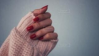冬の袖口の写真・画像素材[4120280]