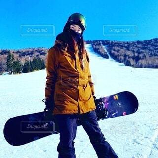 風景,空,冬,雪,屋外,雪山,山,人,旅行,スキー,運動,ポーズ,冷たい,スノーボード,斜面,ウィンタースポーツ