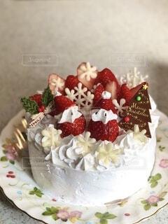 2020クリスマスケーキの写真・画像素材[3998854]