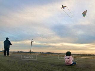 凧揚げの写真・画像素材[4043907]