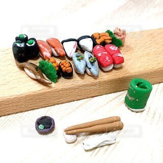 粘土で作ったお寿司2の写真・画像素材[3939005]
