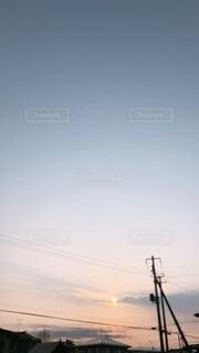 空,屋外,朝日,雲,日の出