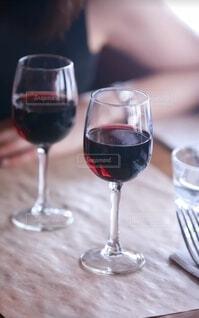 ワイングラスのクローズアップの写真・画像素材[3942101]