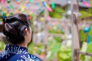 浴衣を着た女性の写真・画像素材[4709442]
