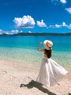 青い海大好き!の写真・画像素材[3954310]