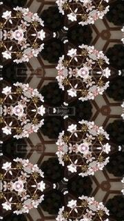 神社と桜と万華鏡の写真・画像素材[4027028]