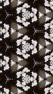 神社と桜と万華鏡の写真・画像素材[4027047]