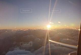 朝日,飛行機,新年,初日の出