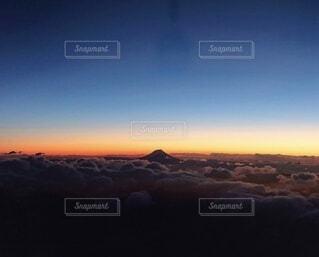 空,富士山,朝日,飛行機,日の出,新年,初日の出