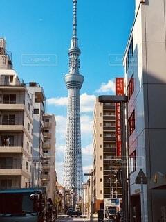 タワーのある風景の写真・画像素材[3952841]