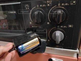 コンロの電池交換の写真・画像素材[3960587]