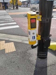 交差点の歩行者信号の写真・画像素材[3966046]
