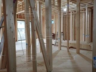 建築中の家の写真・画像素材[3982314]
