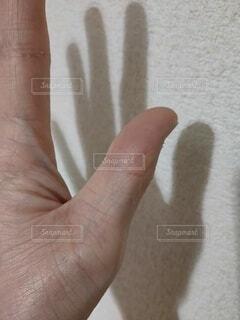 親指にホクロの写真・画像素材[3997649]