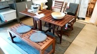 屋外用のイス・テーブルセットの写真・画像素材[4029624]