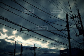 Lined Cloudsの写真・画像素材[3959318]