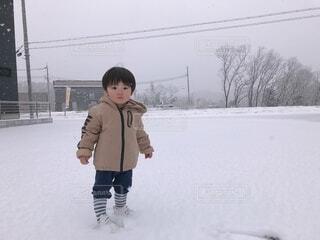 風景,冬,雪,屋外,人,運動,少年
