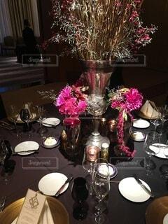華やかなテーブルの写真・画像素材[3968136]