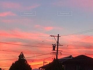 きれいな夕焼けの写真・画像素材[4011295]