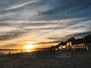 海,空,太陽,朝日,ビーチ,夕暮れ,正月,日の出