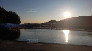 風景,海,太陽,朝日,雲,山,正月,お正月,日の出,新年,初日の出,日中