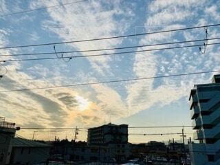 天使の羽のような雲の写真・画像素材[3982585]