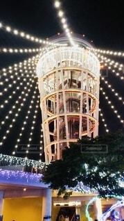 江ノ島のクリスマスイルミネーションの写真・画像素材[3992940]