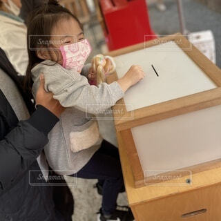 鎌倉・鶴岡八幡宮で疫病退散のお祓いの写真・画像素材[3996149]