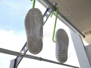 上靴を洗って干すの写真・画像素材[4557676]