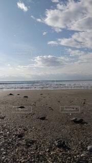 小春日よりの海岸の写真・画像素材[3995039]