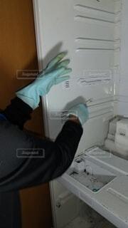 冷蔵庫掃除の写真・画像素材[4057114]