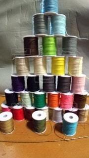 たくさん,カラー,色,糸,繊維,ミシン糸,いと