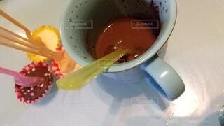 ホットチョコレートスプーンの写真・画像素材[4222498]