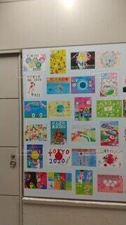 屋内,白,絵,展示,オリンピック,漫画,テキスト,図面,子供の芸術