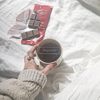 チョコレートとコーヒーでおうちカフェの写真・画像素材[4199630]