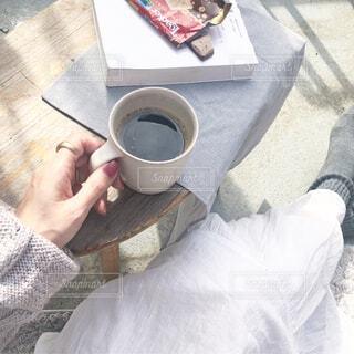おうちでコーヒータイムの写真・画像素材[4221156]