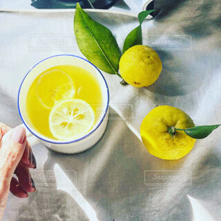 自家製のゆず茶の写真・画像素材[4236463]