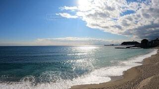 鎌倉高校前からの江の島の写真・画像素材[4002465]