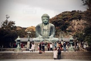 どっしりと鎌倉大仏の写真・画像素材[4004212]