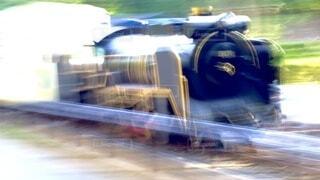 爆速!!遊園地の機関車にエンカウント!の写真・画像素材[4004217]