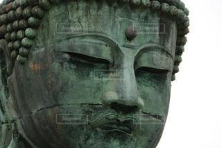 大迫力!かなり近い鎌倉の大仏の写真・画像素材[4004214]