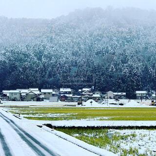 自然,空,雪,屋外,道路,雪景色,田舎,山